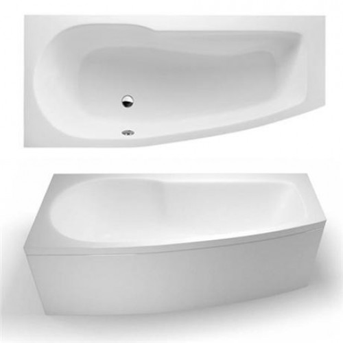 Ecocurve 1700mm Left Hand shower bath