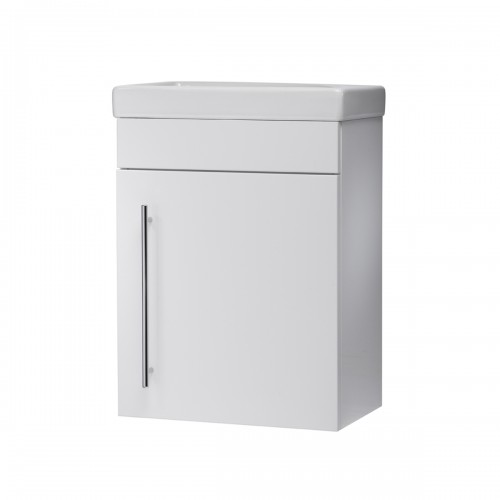 ROPER RHODES ESTA CLOAKROOM VANITY UNIT - WALL MOUNTED - GLOSS WHITE