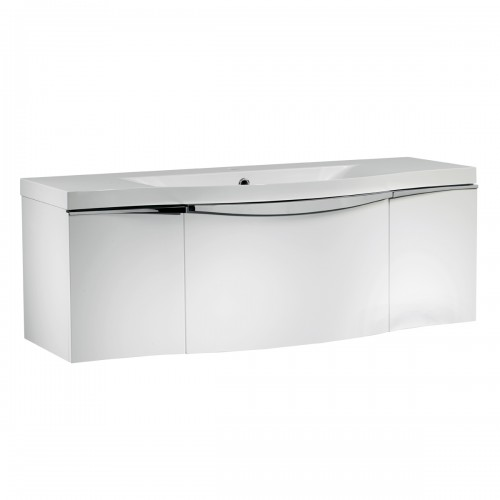 ROPER RHODES SERIF 1200MM VANITY UNIT & BASIN - GLOSS WHITE