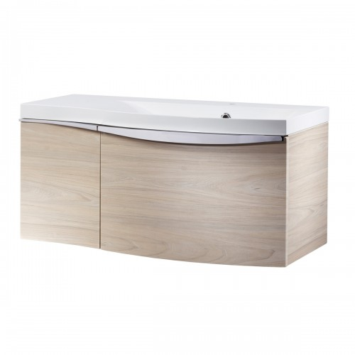 ROPER RHODES SERIF 900MM VANITY UNIT & BASIN - LIGHT ELM RIGHT HAND