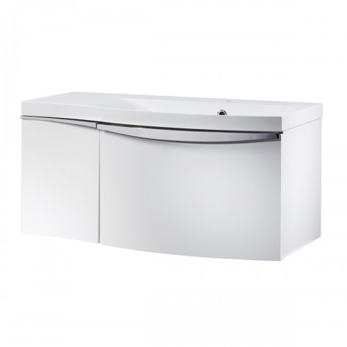 ROPER RHODES SERIF 900MM VANITY UNIT & BASIN - GLOSS WHITE RIGHT HAND