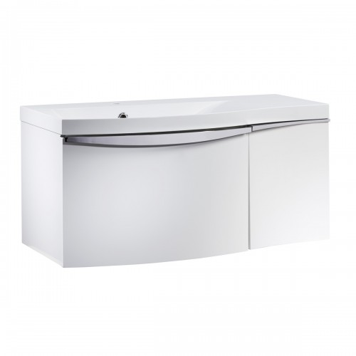 ROPER RHODES SERIF 900MM VANITY UNIT & BASIN - GLOSS WHITE LEFT HAND