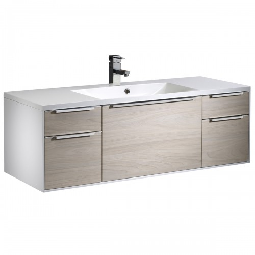 ROPER RHODES VISTA 1200MM VANITY UNIT & BASIN - WHITE/LIGHT ELM - WALL MOUNTED