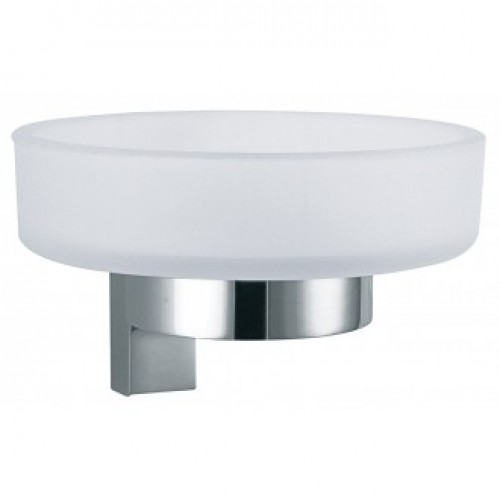 ATOM FROSTED GLASS SOAP DISH & HOLDER