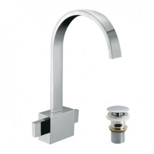 GEO MONO BASIN MIXER WITH CLIC-CLAC WASTE