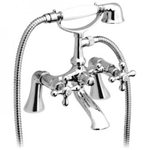 VICTORIANA 2 HOLE BATH SHOWER MIXER WITH SHOWER KIT