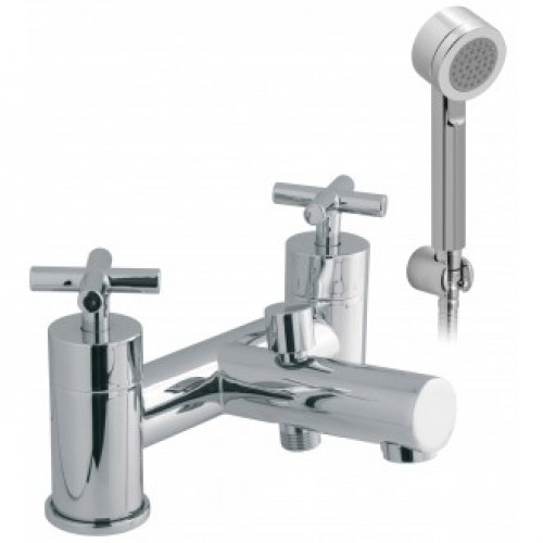 ELEMENTS WATER 2 HOLE BATH SHOWER MIXER WITH SHOWER KIT