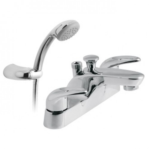 MAGMA 2 HOLE BATH SHOWER MIXER WITH SHOWER KIT