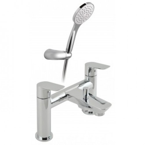 PHOTON 2 HOLE BATH SHOWER MIXER WITH SHOWER KIT