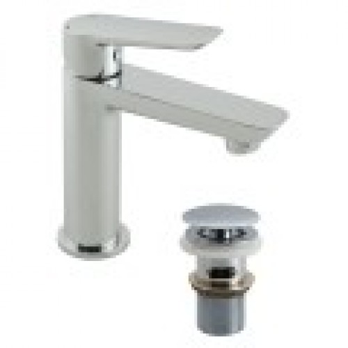 PHOTON MINI MONO BASIN MIXER WITH CLIC-CLAC WASTE