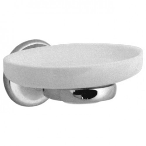 TOURNAMENT CERAMIC SOAP DISH & HOLDER